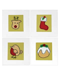 Handmade Recycled Cotton Christmas Cards