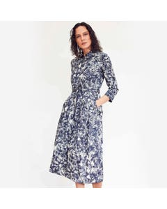Thought Kinsley Tencel and Organic Cotton Midi Shirt Dress