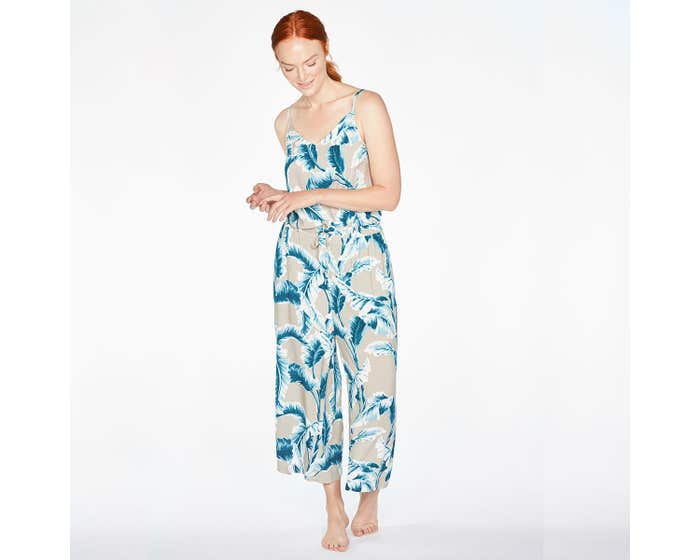 Thought Baja Palm Print Pyjamas in Gift Bag - Small