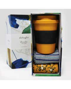Thought Women's Bamboo Cup and Sunflower Yellow Socks Gift Pack