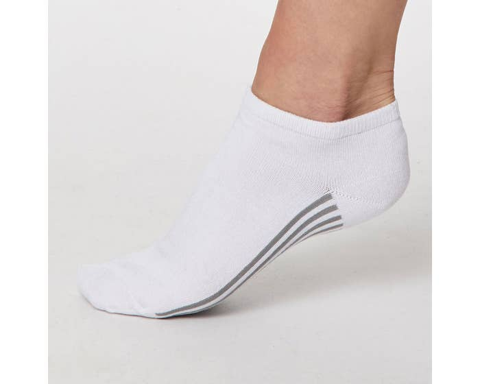 Thought Women's Bamboo Blend Solid Jane Trainer Socks