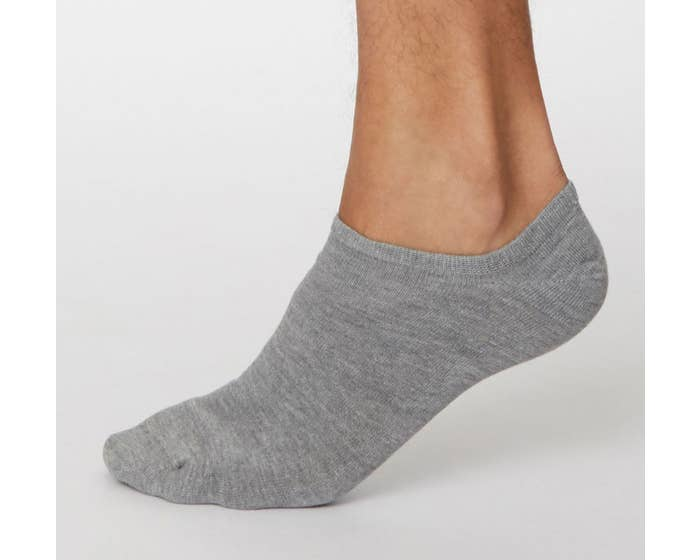 Thought Men's Bamboo Blend Ashley Trainer Socks - Grey