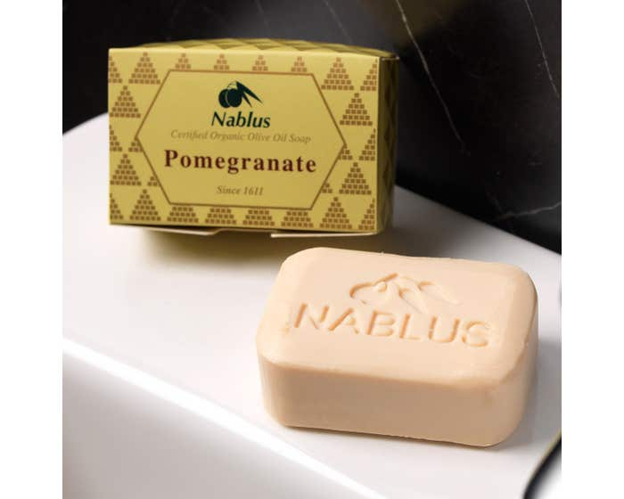 Nablus Natural Olive Oil Soap with Pomegranate 100g