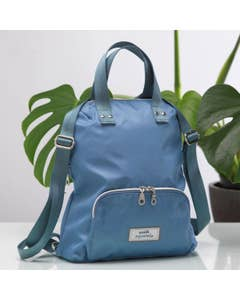 Pale Blue Backpack Bag