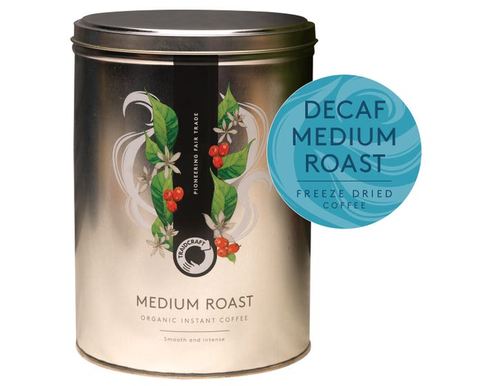 Traidcraft Instant Decaf Coffee Storage Tin