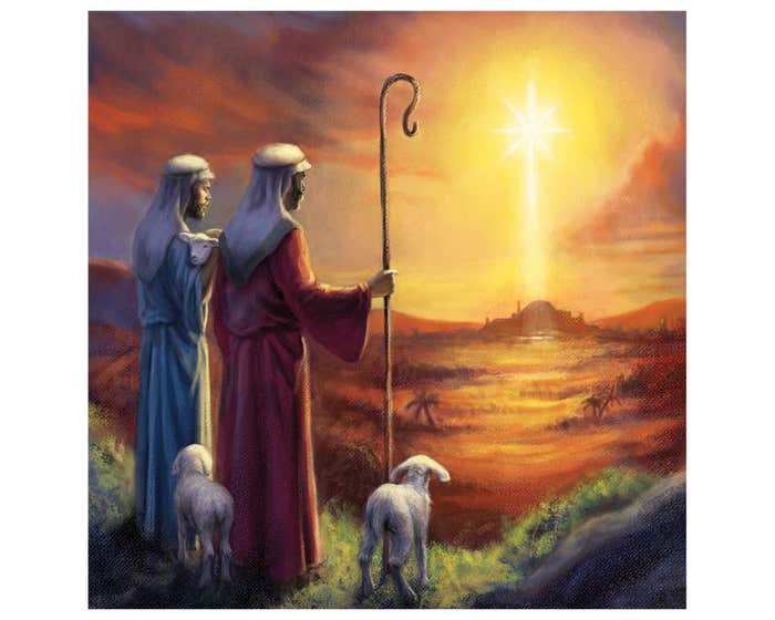While Shepherds Watched Christmas Cards