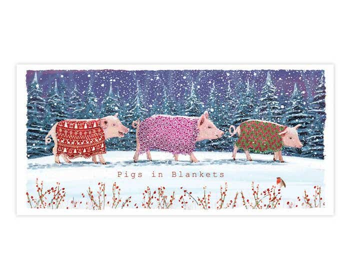 Pigs In Blankets Christmas Cards AW21