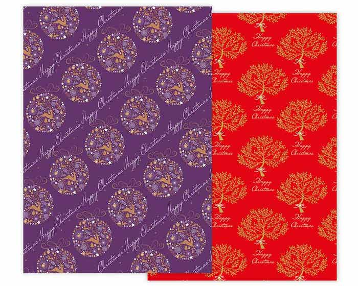 Tree & Bauble Christmas Gift Wrap