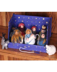 Hand-Felted Nativity Set in a Box