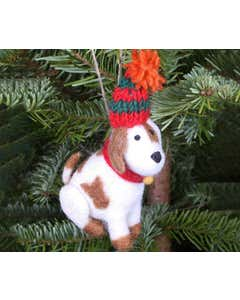 Patch the Puppy Handmade Christmas Decoration