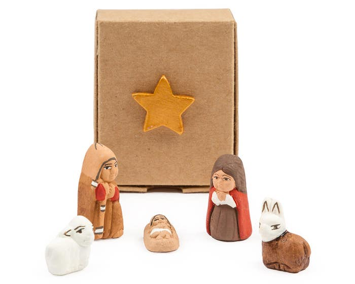Hand-Painted Mini Nativity in a Box