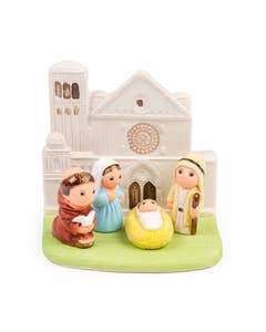 Hand-Painted Assisi Chapel Christmas Nativity Scene Decoration