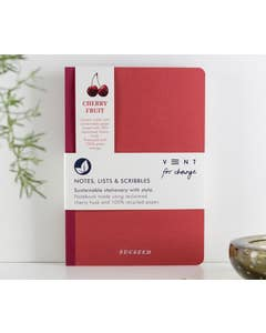 Recycled A5 'SUCSEED' Cherry Notebook