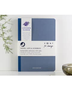 Recycled A5 'SUCSEED' Lavender Notebook