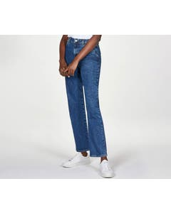 Thought Women's Organic Cotton Mid Wash Blue Straight Jeans