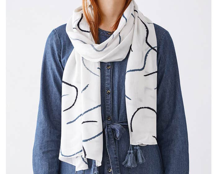 Thought 100% Ecovero Drawing Scarf in Gift Box