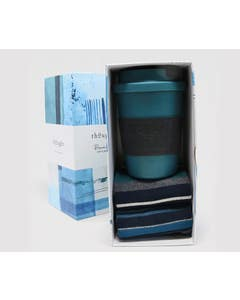Thought Men's Jem Reusable Bamboo Cup and Socks Set in Gift Box