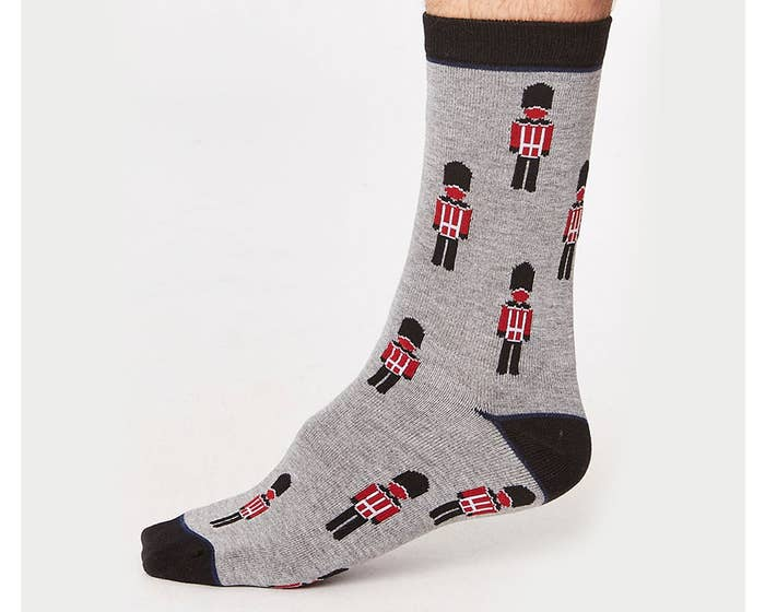 Thought Men's Bamboo and Organic Cotton Blend London Guard Socks