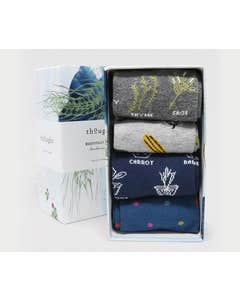 Thought Women's Bamboo and Organic Cotton Blend Marah Allotment Socks in Gift Box