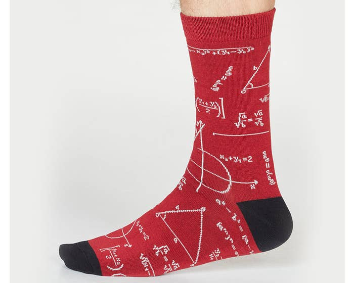 Thought Men's Bamboo and Organic Cotton Blend Theron Algebra Socks