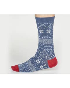 Thought Men's Bamboo and Organic Cotton Blend Olwin Fair Isle Socks
