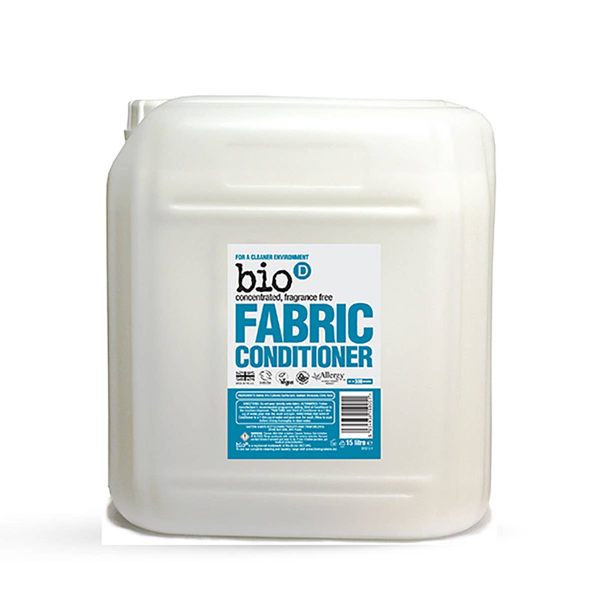 Bio-D Fragrance-Free and Hypoallergenic Fabric Conditioner (15 Litres)