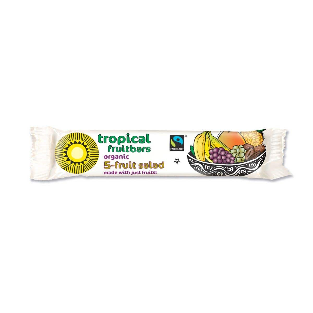 Tropical Wholefood Fair Trade Organic 5 Fruit Salad Bar SINGLE