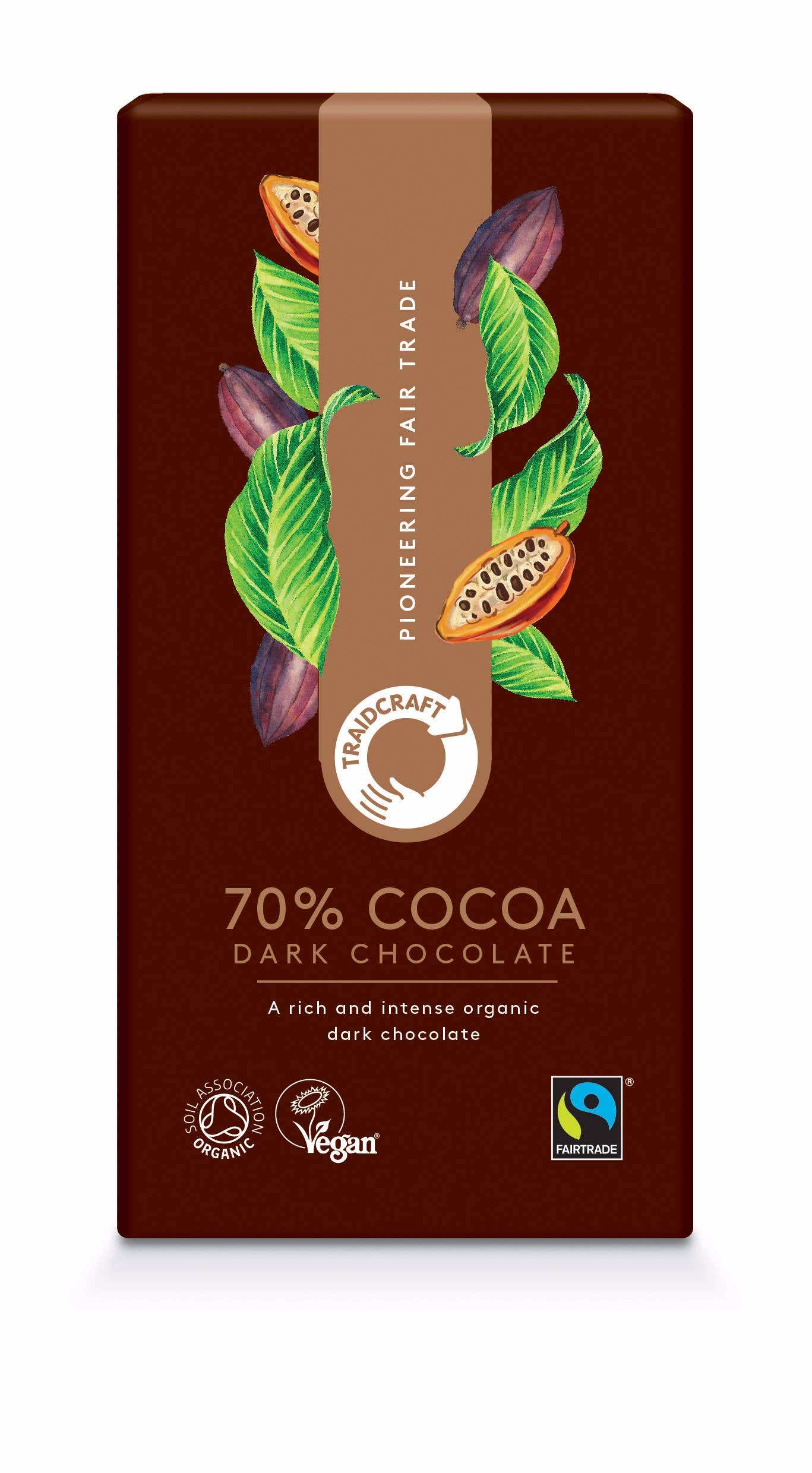 Traidcraft Organic 70% Dark Chocolate (10x100g) CASE