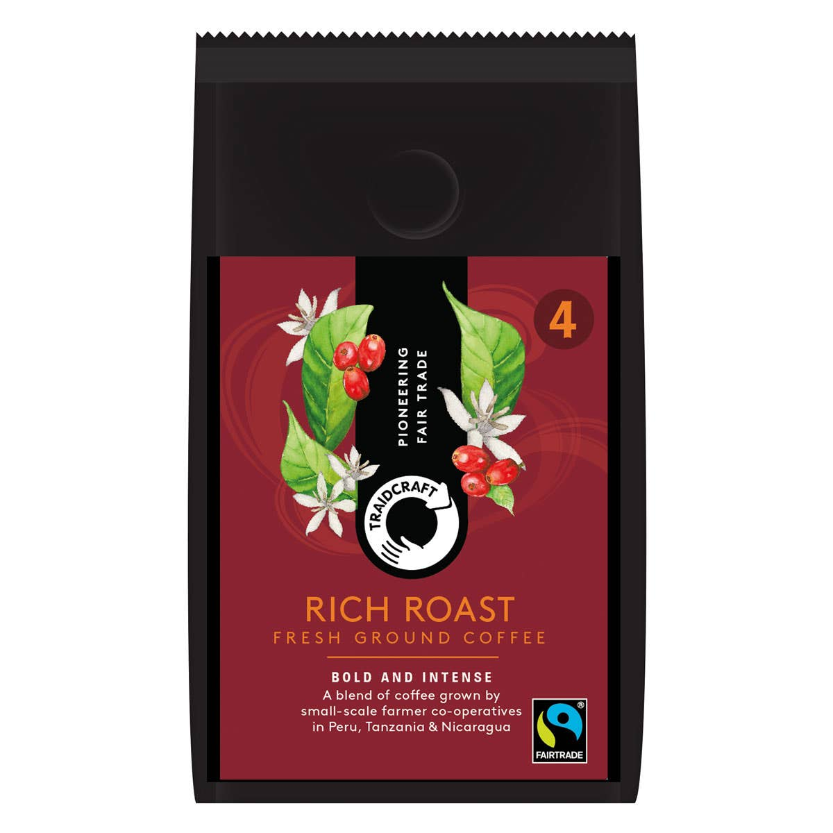 Traidcraft Rich Roast Ground Coffee (6x227g) CASE