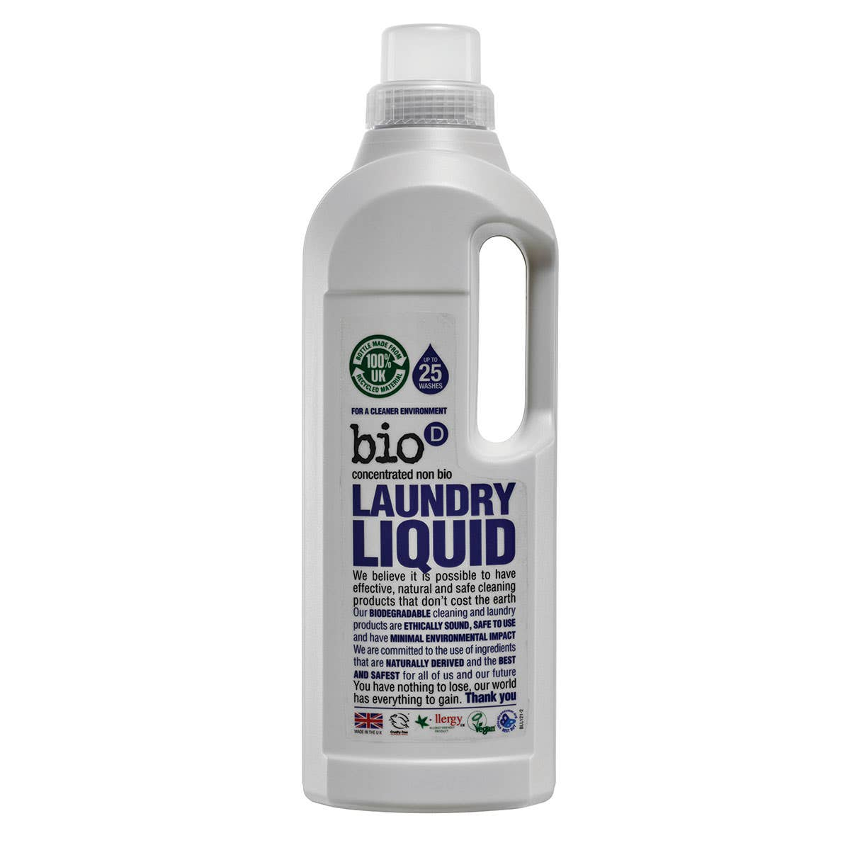 Bio-D Fragrance-Free Laundry Liquid (1 Litre)