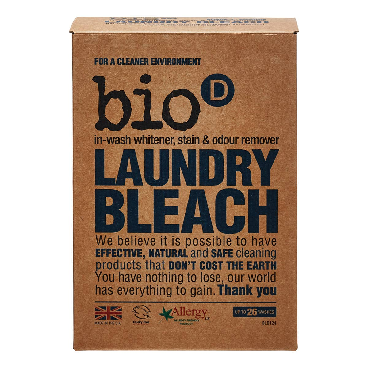 Bio-D Fragrance-Free and Hypoallergenic Laundry Bleach (400g)