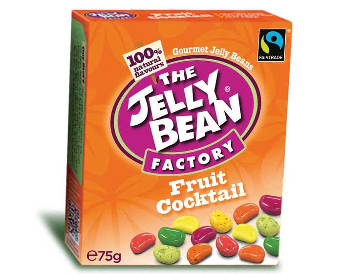 The Jelly Bean Factory Fruit Cocktail Flavour (16x75g) CASE