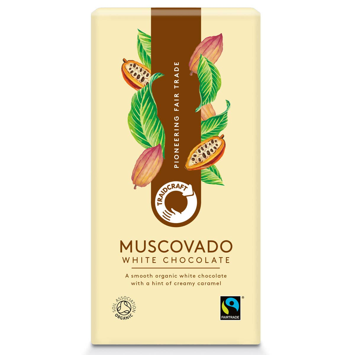 Traidcraft Organic Muscovado White Chocolate (100g) SINGLE