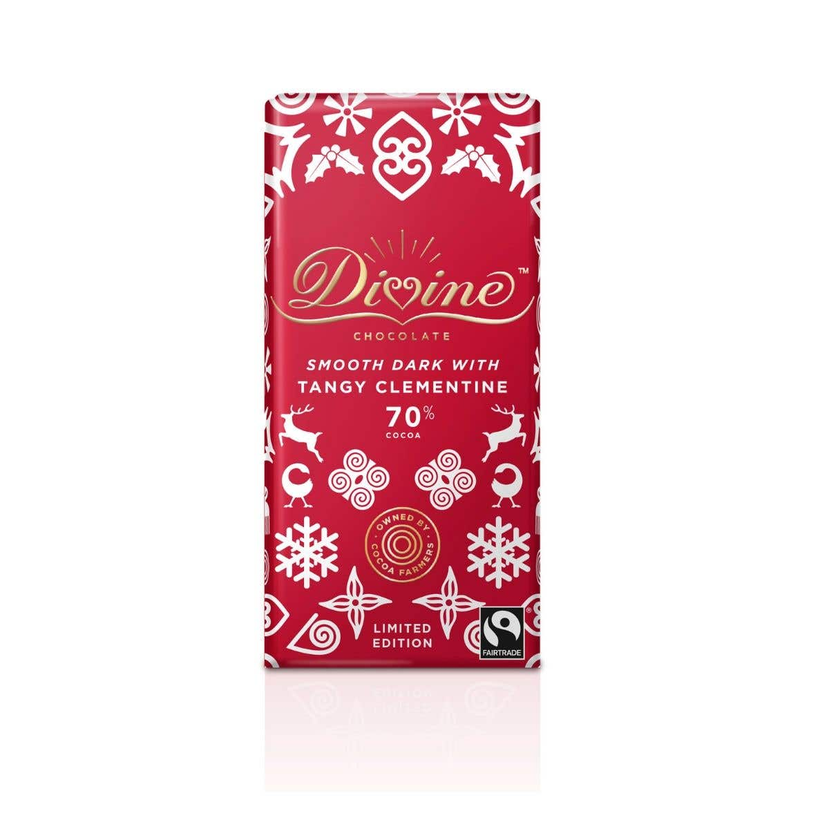 Divine Dark Chocolate with Clementine Limited Edition (90g) SINGLE