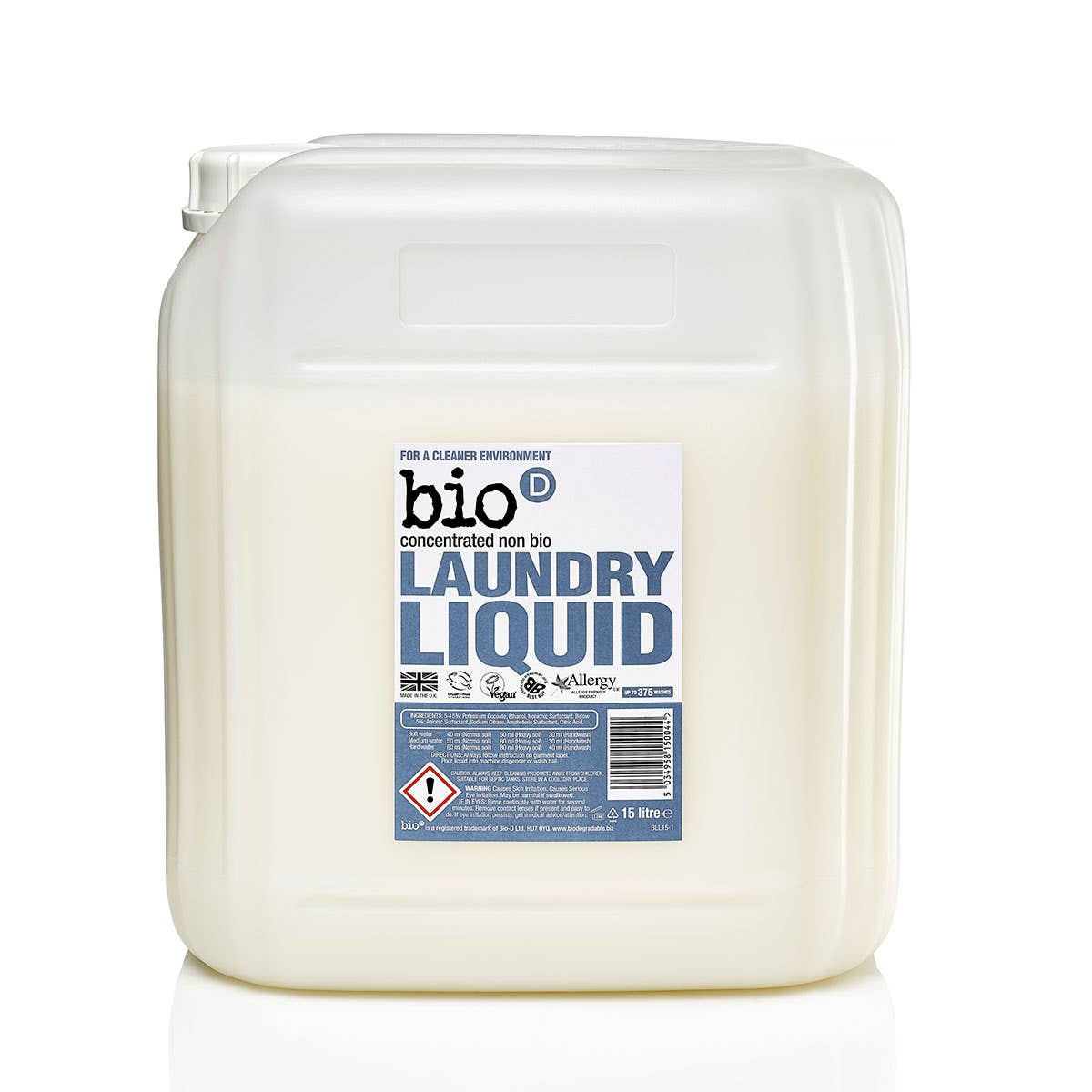 Bio-D Fragrance-Free Laundry Liquid (15 Litres)