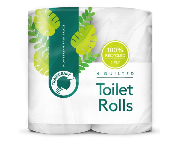 Traidcraft Recycled Toilet Tissue (4 rolls) SINGLE