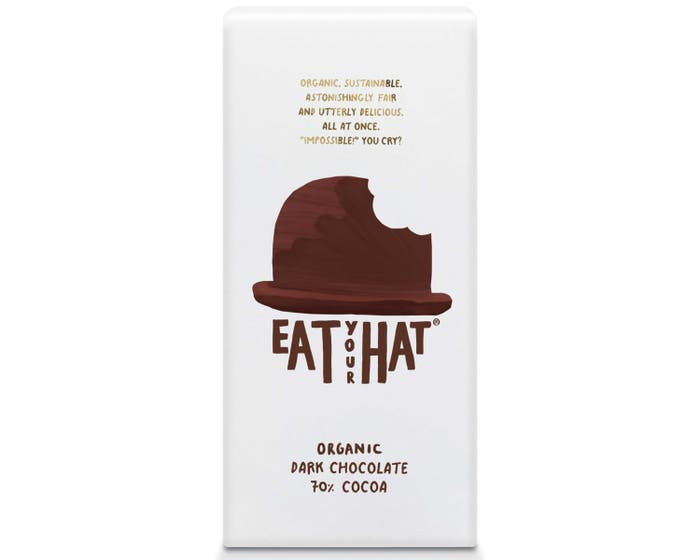 Eat Your Hat Organic 70% Dark Chocolate (91g)