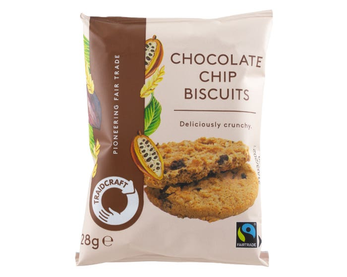 Traidcraft Chocolate Chip Biscuits (28g)