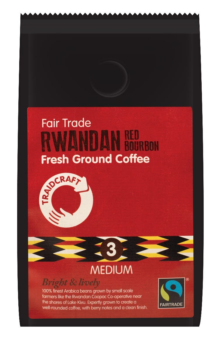 Traidcraft Rwandan Red Bourbon Ground Coffee (227g) SINGLE
