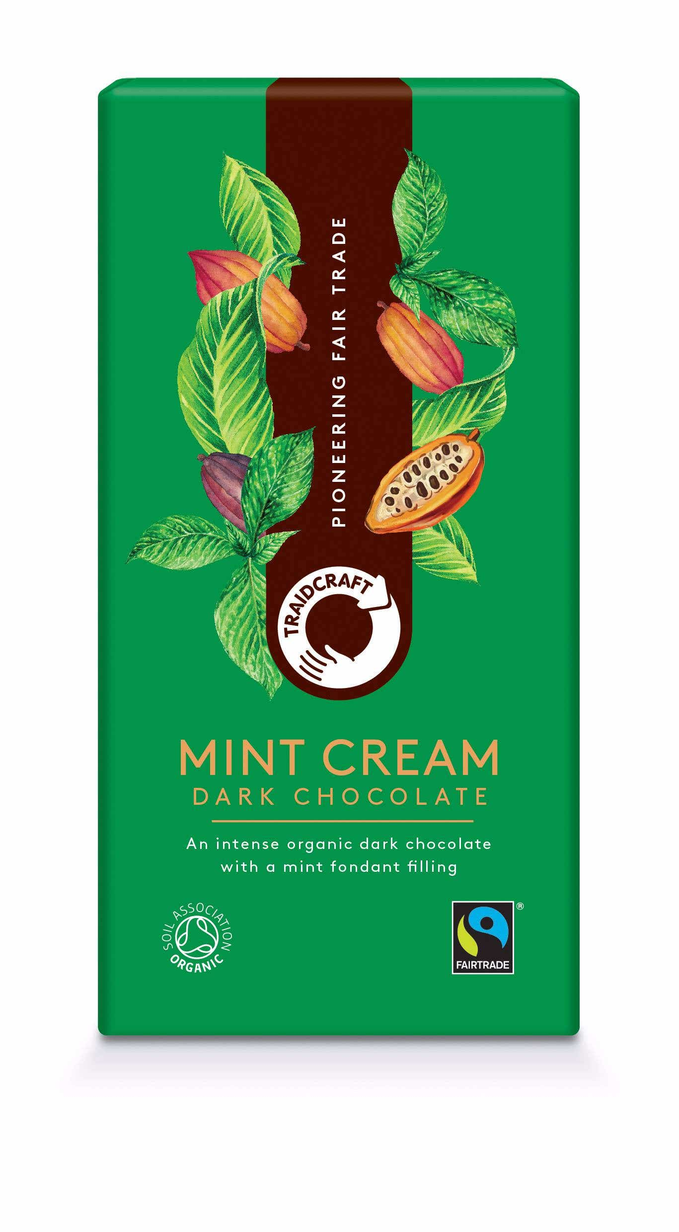 Traidcraft Organic Dark Chocolate with Mint Cream (10x100g) CASE