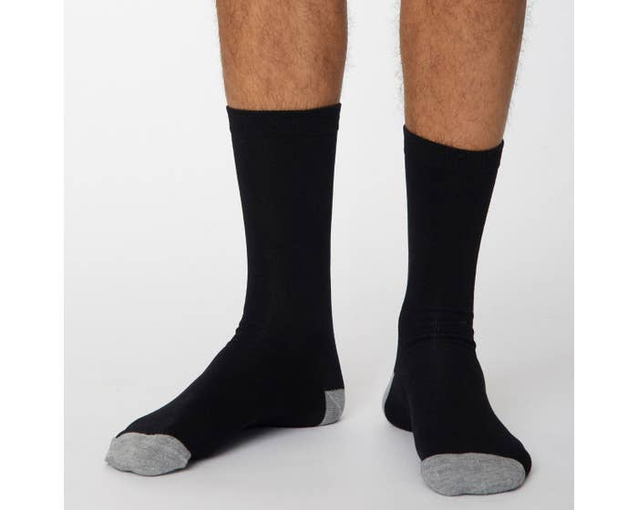 Thought Black and Grey Solid Jack Men's Socks