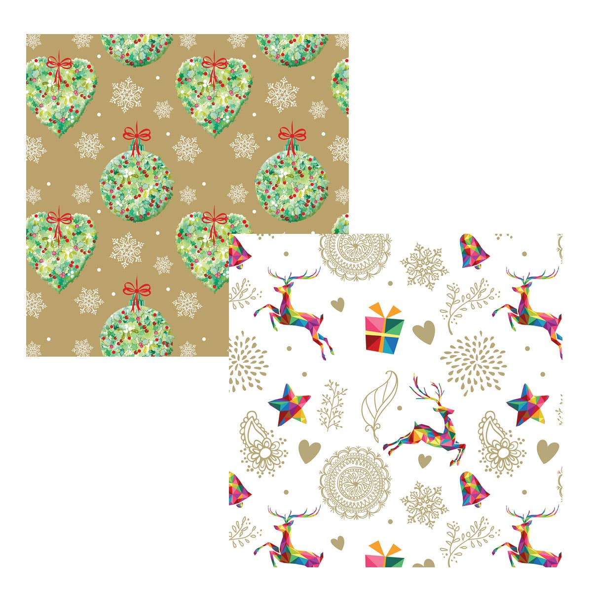 Floral and Reindeer Wrap
