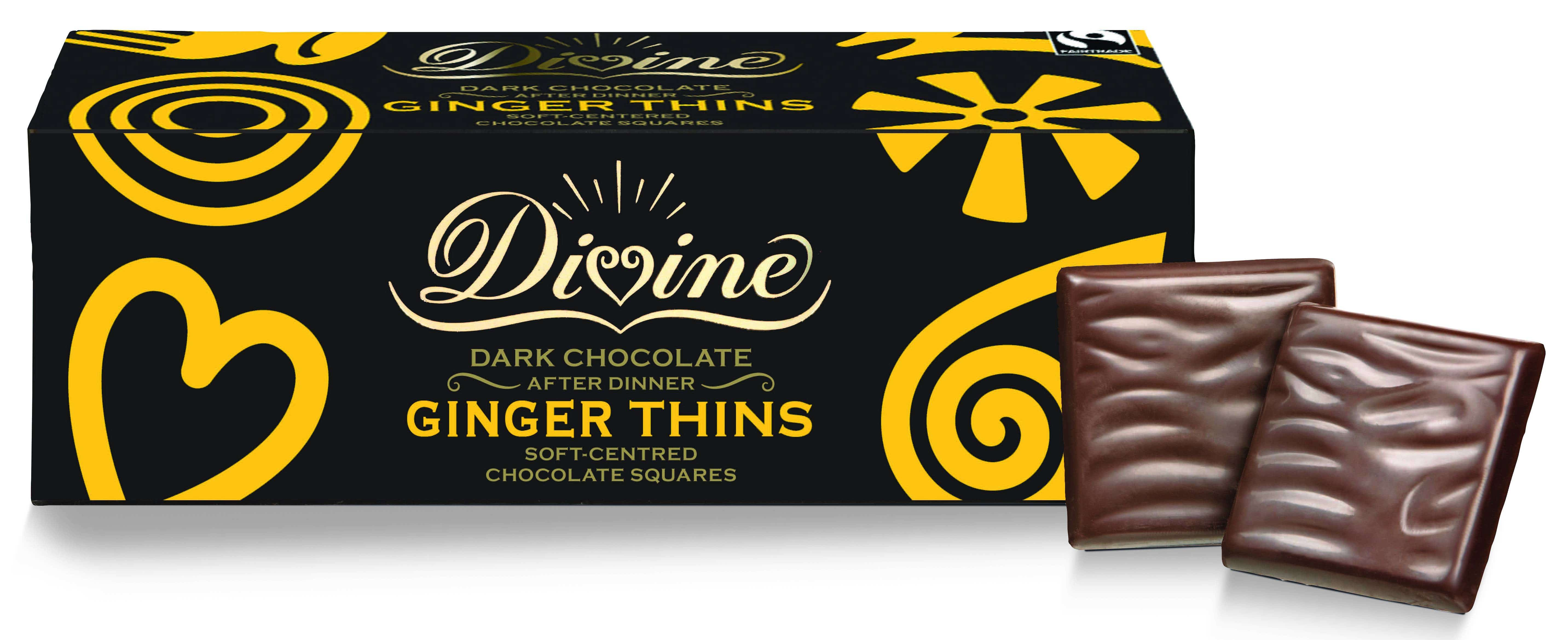 Divine Dark Chocolate Ginger Thins (12x200g) CASE