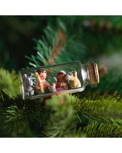 Hand Painted Ceramic Nativity Set in a Bottle