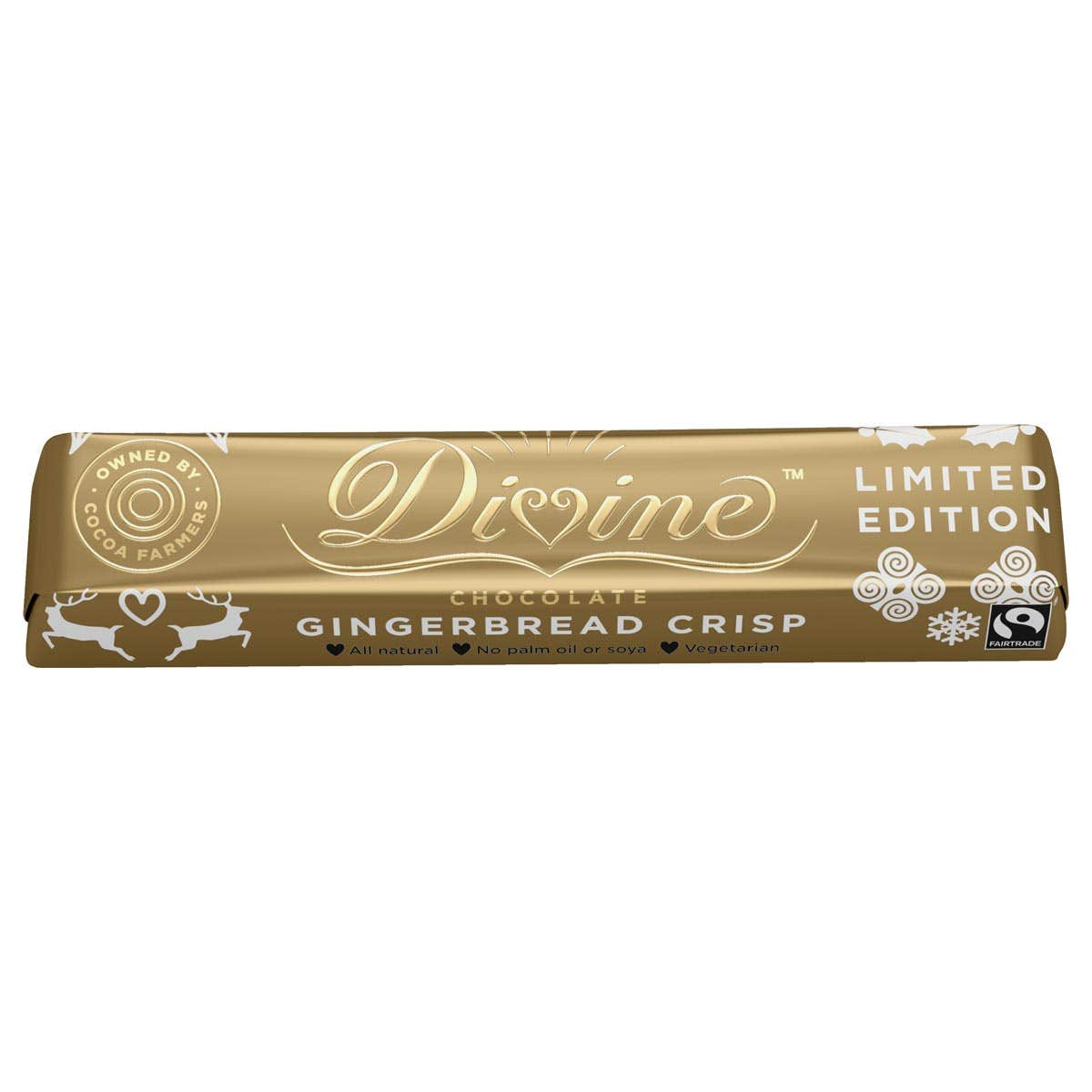 Divine Milk Chocolate Gingerbread Crisp Bar (30x35g) CASE