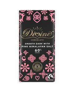 Divine Dark Chocolate with Pink Himalayan Salt (90g)