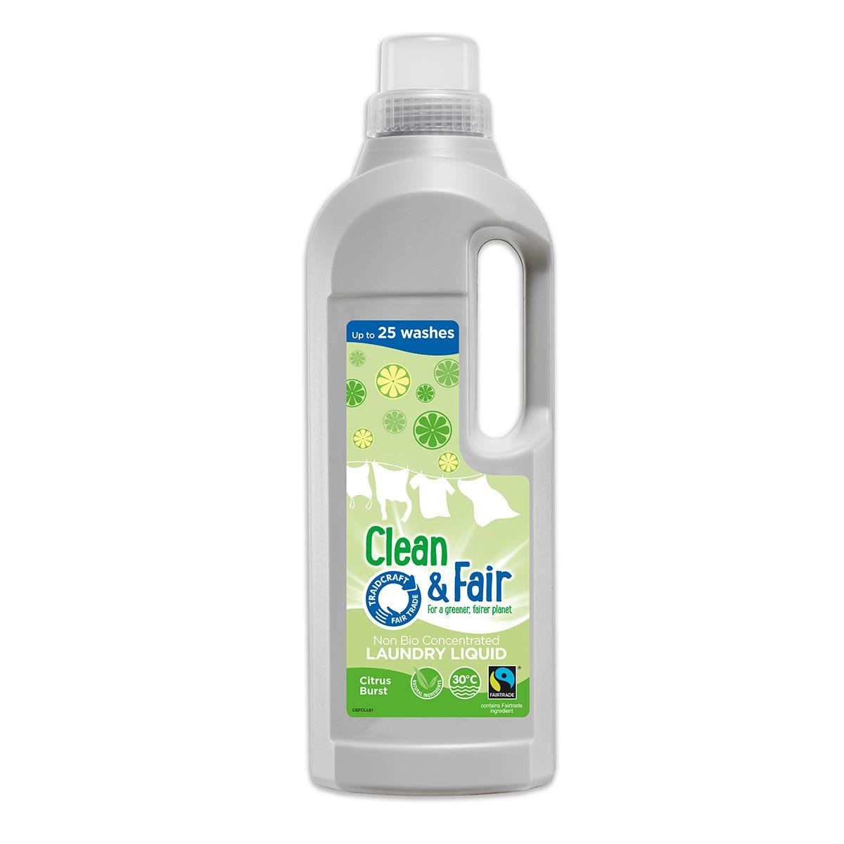 Clean & Fair Citrus Burst Laundry Liquid (6x1L)