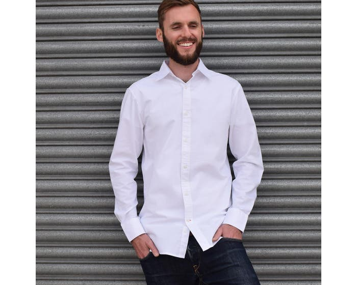 Men's White Fairtrade Organic Oxford Shirt (Large)