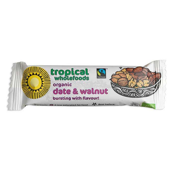 Tropical Wholefoods Organic Date & Walnut bar (24x40g) CASE