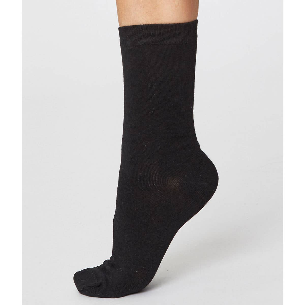 Thought Solid Jackie Black Soft Bamboo Women's Socks